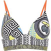 Blue Pacha bold print triangle bikini top
