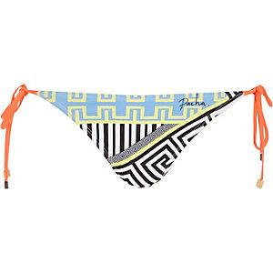 Blue Pacha bold print bikini bottoms