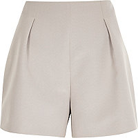 Pink nude tailored smart shorts