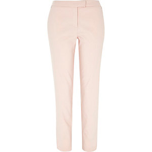 Light pink slim cigarette pants
