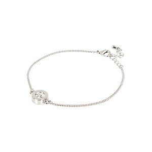 Rhodium plated diamante bracelet