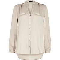 Grey utility blouse