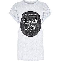 Grey exhale style oversized t-shirt