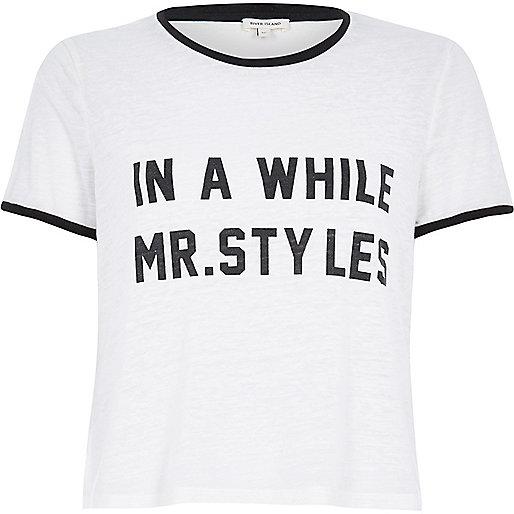 Slogans Shirts Slogan Black Trim T-shirt