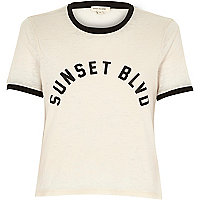 Pink Sunset Blvd print t-shirt