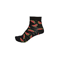 Black watermelon socks