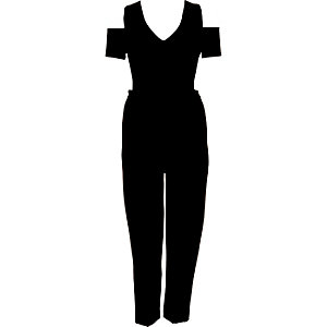 Black smart cold shoulder jumpsuit