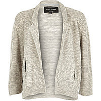 Grey short boxy jersey jacket