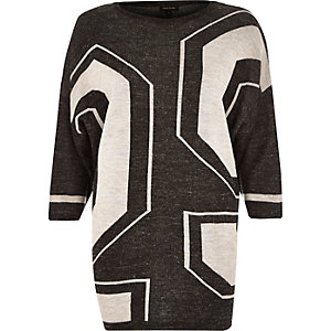 Grey linen oversized slouchy t-shirt