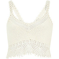 White crochet bralet top