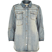 Light wash denim overshirt