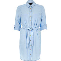 Light wash denim lightweight shirt dress