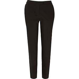 Black tailored slim cigarette pants