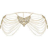 Gold tone regal harness