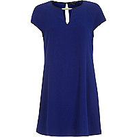 Blue cut out swing dress