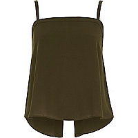 Khaki button cami