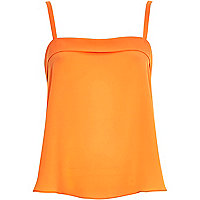 Orange loose fit cami
