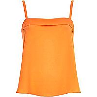 Orange loose fit cami