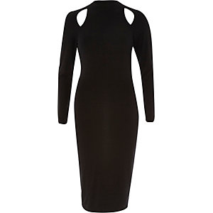 Black cut out bodycon dress
