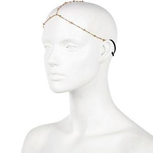 Gold tone hair crown
