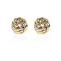 Gold tone knot studs
