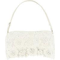 White Pacha tiered lace bandeau bikini top
