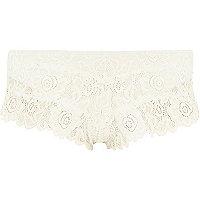 White Pacha lace bikini bottoms