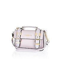 Light purple mini satchel bag