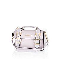 Light purple mini satchel bag