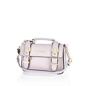 Light purple mini satchel handbag