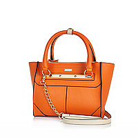 Orange mini tote bag