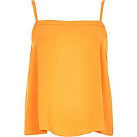 Orange button back cami