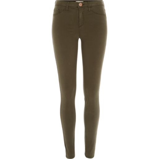 39505e01da372 This is a great Spring shade, absolutely love it with tones of camel and it  also looks great with navy and black. Khaki Sateen Finish Molly Jeggings £40