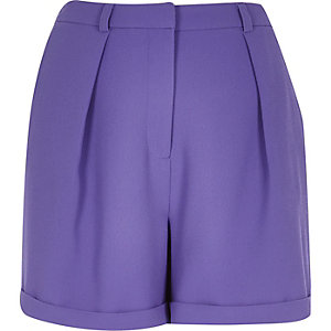 Purple smart tailored shorts