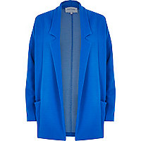 Blue relaxed fit jersey twill jacket