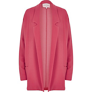 Coral jersey twill blazer