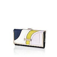 Yellow swirl print tassel trim purse