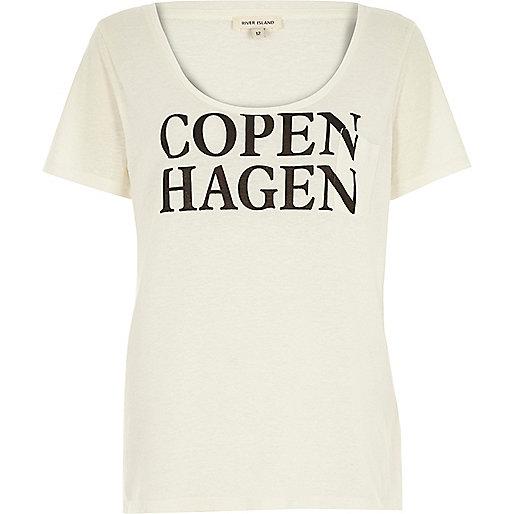 "alt=""copehagen slogan t-shirt"""