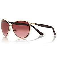 Dark red cat eye sunglasses