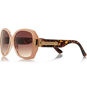 Light pink chunky square sunglasses