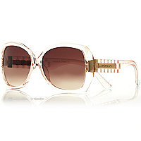 Coral square sunglasses