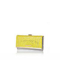 Lime lasercut clip top purse