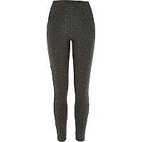 Grey tweed leggings