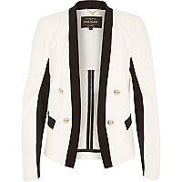 White monochrome tux jacket