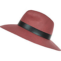 Dark pink fedora hat