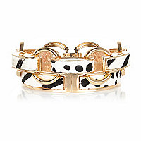 Gold tone animal bangle pack