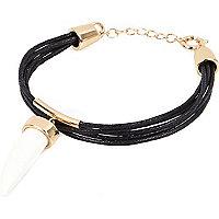 Black tusk pendant bracelet