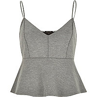 Grey jersey short cami