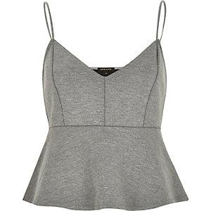 Grey jersey short cami top