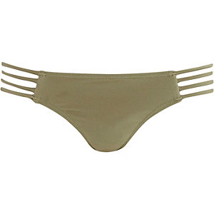 Khaki Pacha strappy bikini bottoms